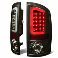02-06 Dodge RAM Pickup 3D Style LED Tail Lights - Smoked