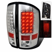 02-06 Dodge Ram Pickup Truck Euro LED Tail Lights - Chrome