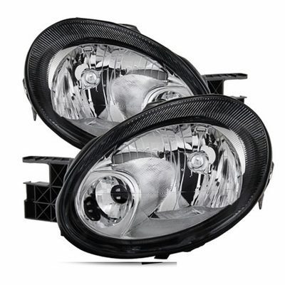 03 05 Dodge Neon OEM Style Replacement Headlights Black #1: 03 05 dodge neon oem style replacement headlights black chrome 18