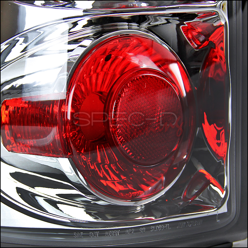 03 06 Chevy Silverado 1500 2500 3500 Euro Altezza Tail Lights Chrome