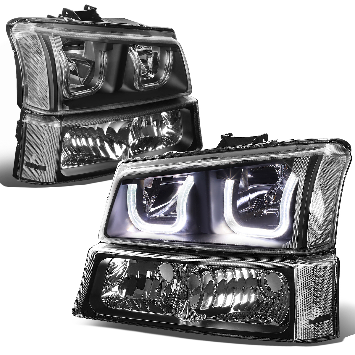 0306 Chevy SilveradoAvalanche LED UHalo Headlight  Bumper