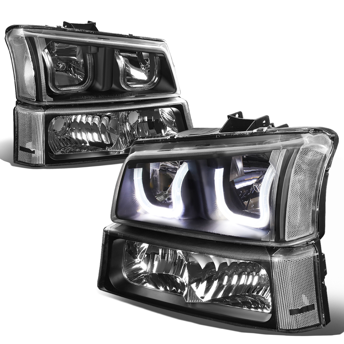 06 Chevy SilveradoAvalanche LED UHalo Headlight  Bumper Light