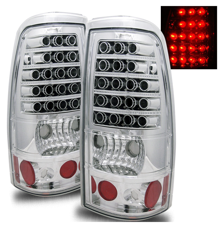 2003 2006 Chevy Silverado 1500 2500 Hd Performance Led Tail Lights Chrome