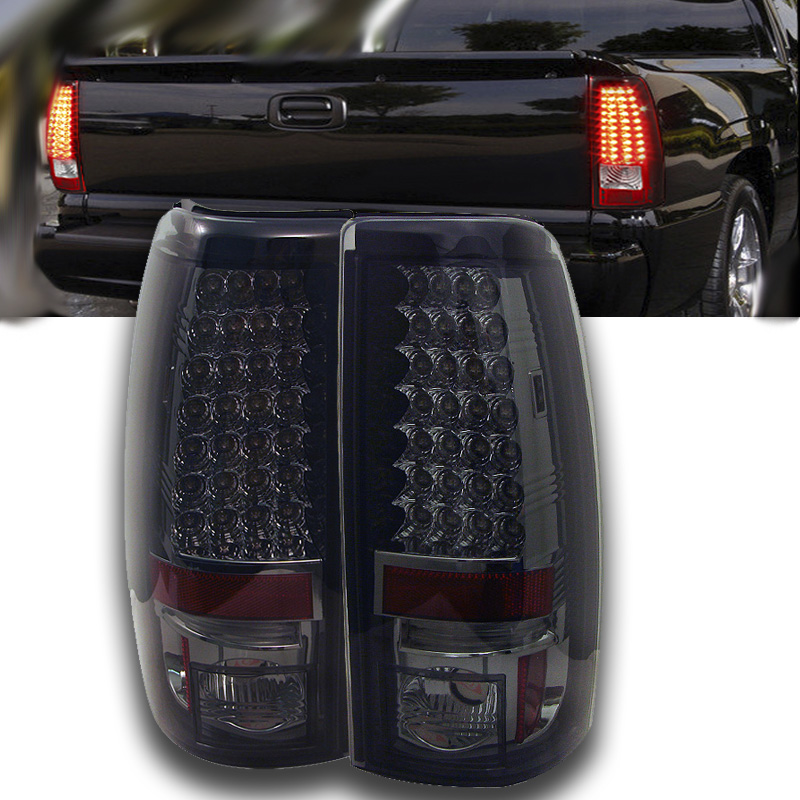 03 06 chevy silverado sierra led tail lights smoke alt yd cs03 led. Black Bedroom Furniture Sets. Home Design Ideas