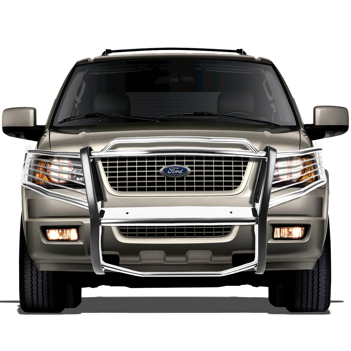 03 06 ford expedition u222 front bumper protector brush grille guard chrome