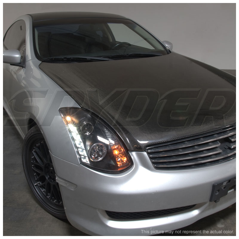 03 06 infiniti g35 coupe halo led drl projector headlights. Black Bedroom Furniture Sets. Home Design Ideas
