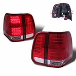 03-06 Lincoln Navigator LED Tail Lights - Red Clear