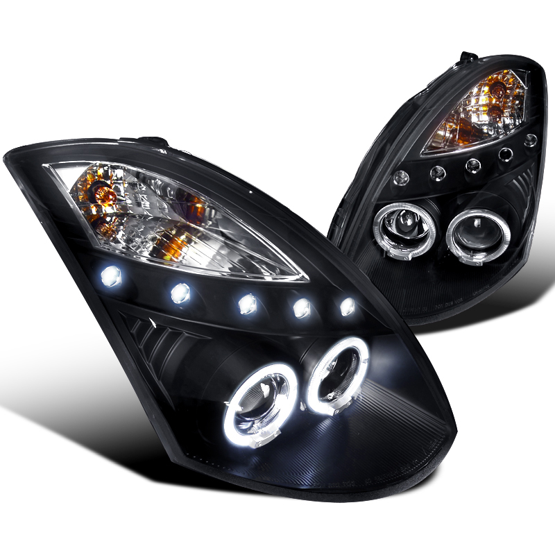 Infiniti G Dr Coupe Dual Halo Led Projector Headlights Black Hid Model