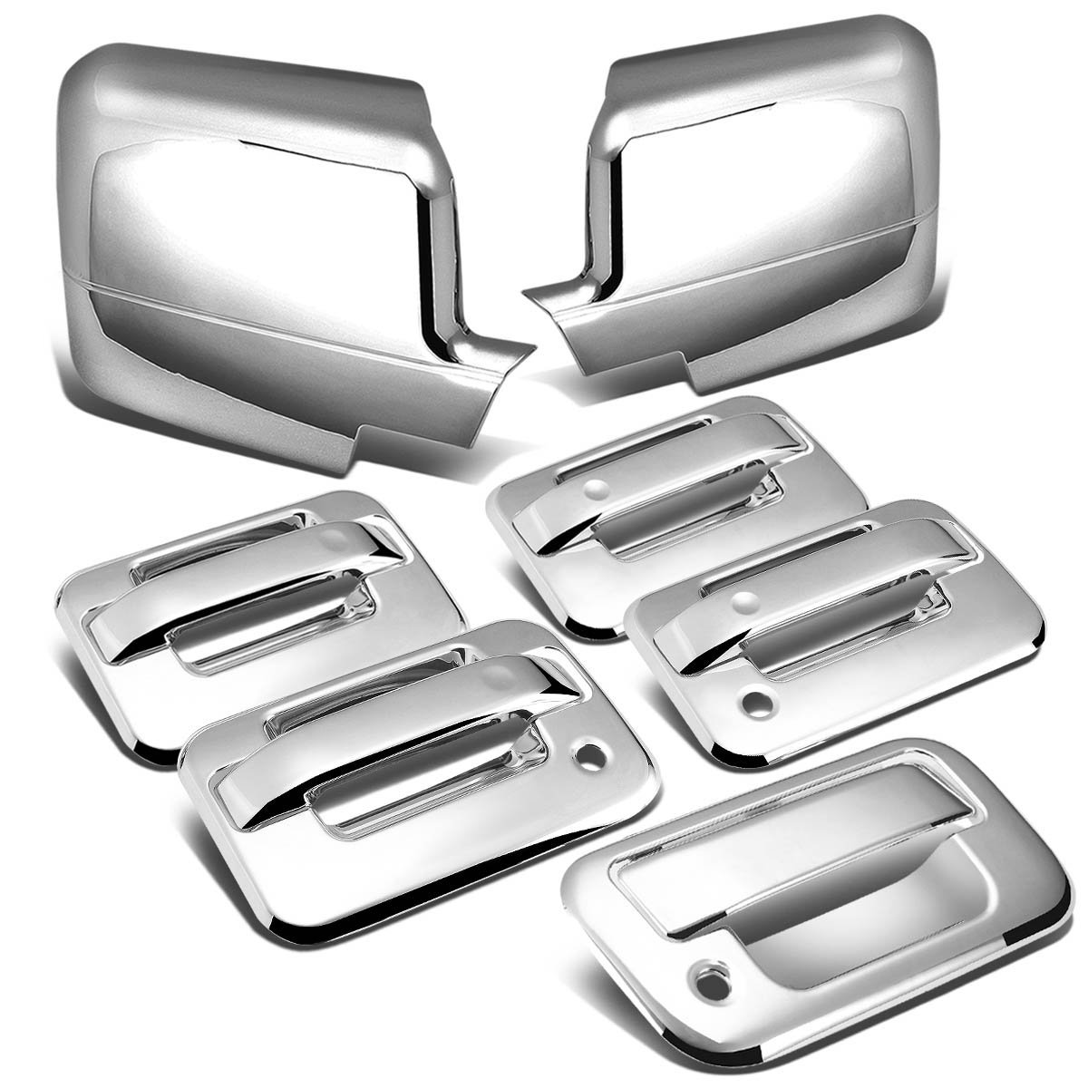 04-08 Ford F-150 11th Gen 4DR Tailgate+Door Handle w/Passenger Keyhole+Mirror Cover (Chrome)  sc 1 st  ProTuningLab.com & 04-08 Ford F-150 11th Gen 4DR Tailgate+Door Handle w/Passenger ...