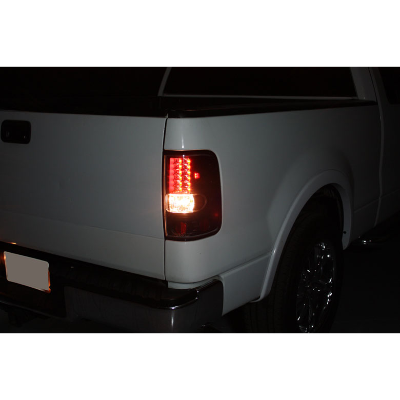 04 08 Ford F150 Styleside Euro Led Tail Lights Chrome