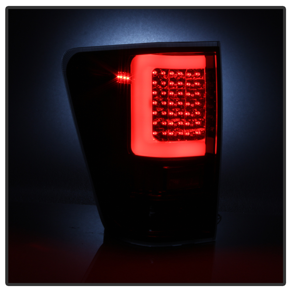 04 15 Nissan Titan Led Light Tube Style Tail Lights Smoked