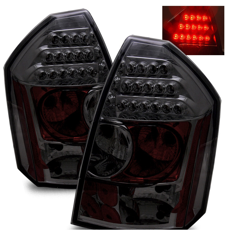 2005 2007 chrysler 300c performance led tail lights smoked