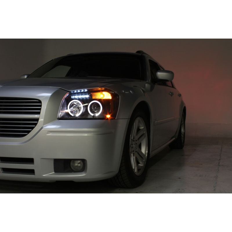 07 dodge magnum angel eye halo led projector headlights black 05 07 dodge magnum angel eye halo led projector headlights black publicscrutiny Images