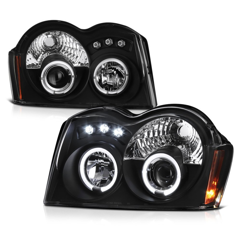 Cherokee Spyder Headlights Wiring Diagram Library 07 Jeep Grand 05 Dual Halo Led Projector Black