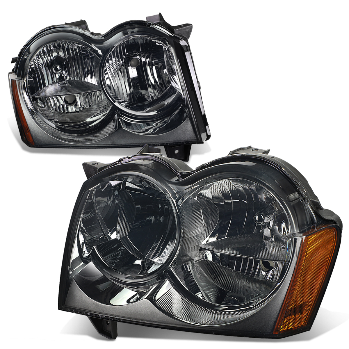 05 07 Jeep Grand Cherokee Headlight Assembly Driver Passenger Side A Map Of Wiring For 2005
