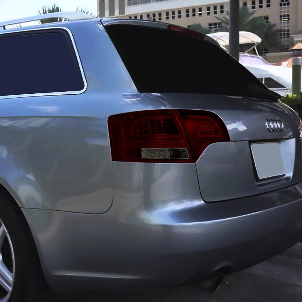 05-08 Audi B7 A4/S4 Avant Smoked Housing Red Lens 3D LED