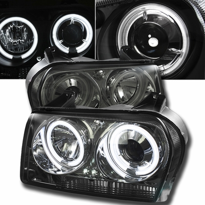 05 08 chrysler 300 angel eye halo led projector. Black Bedroom Furniture Sets. Home Design Ideas