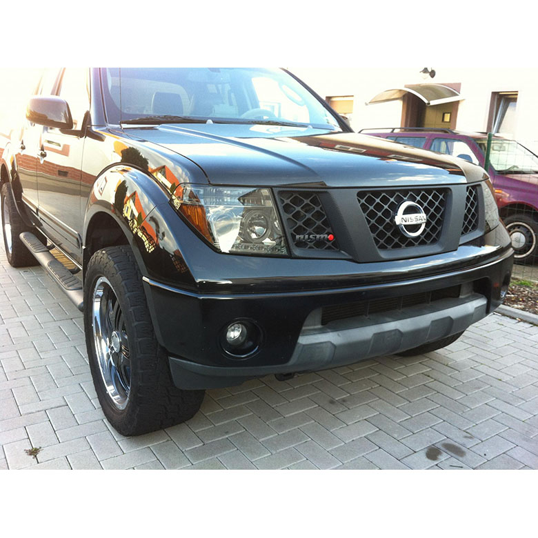05 08 Nissan Frontier 07 Pathfinder Halo LED Projector Headlights