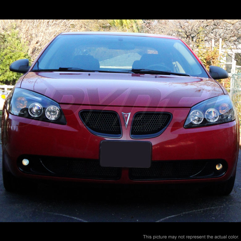 05 08 pontiac g6 dual angel eye halo led projector headlights chrome 45 2010 pontiac g6 dual angel eye halo & led projector headlights Headlight Wiring Harness Replacement at love-stories.co