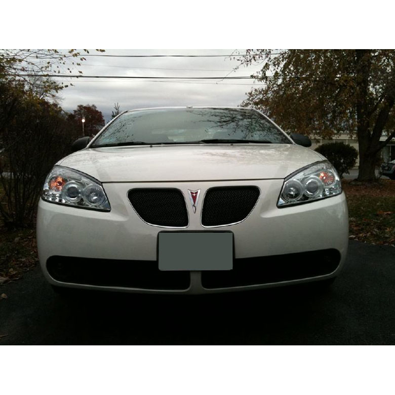 05 08 pontiac g6 dual angel eye halo led projector headlights smoked 48 2010 pontiac g6 dual angel eye halo & led projector headlights how to replace headlight wiring harness pontiac g6 at gsmportal.co