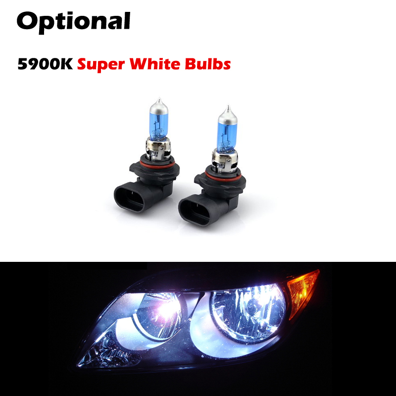 Ford Mustang Replacement Crystal Headlights Black - 2005 acura tl headlight bulb