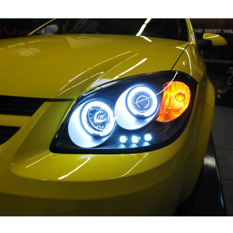 05 10 chevy cobalt g5 pursuit angel eye halo projector headlights black smoked 35 10 chevy cobalt g5 pursuit angel eye halo projector headlights chevy cobalt fog light wiring harness at gsmx.co