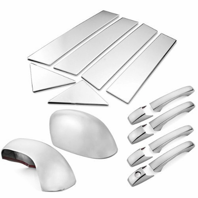 05-10 Chrysler 300 / 300C Chrome Door Handle + Mirror Cover + Pillar Trim Set