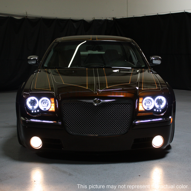05 10 chrysler 300c dual halo led projector headlights. Black Bedroom Furniture Sets. Home Design Ideas
