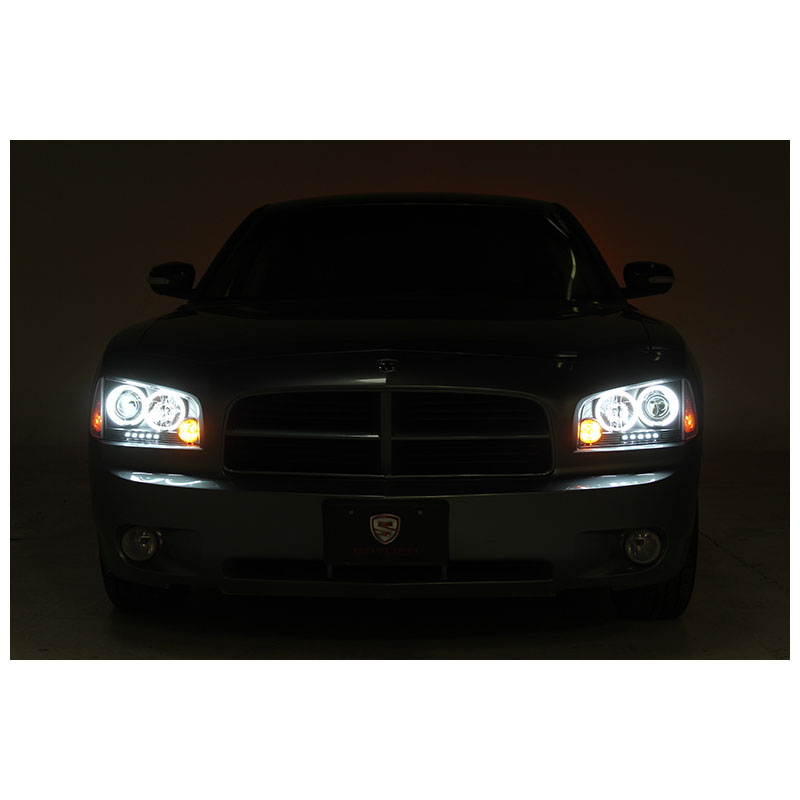 05 10 dodge charger angel eye halo led projector headlights corner 05 10 dodge charger angel eye halo led projector headlights corner lens smoked publicscrutiny Images