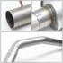 """05-10 Jeep Grand Cherokee 4.7L 5.7L Stainless Steel Round 3.5"""" Muffler Tip Catback Exhaust System 3rd gen WK"""
