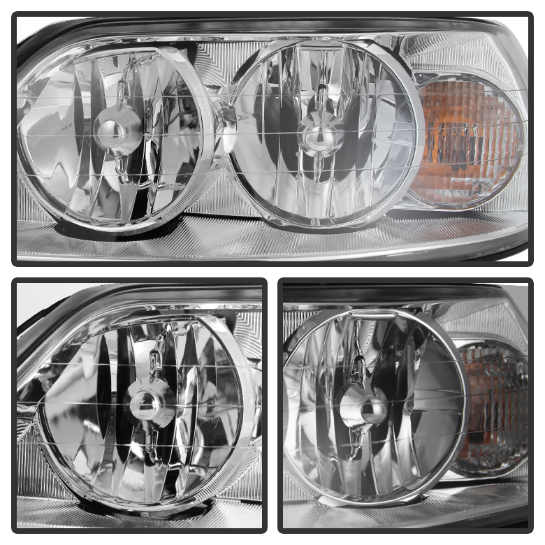 05 11 lincoln town car crystal replacement headlights chrome. Black Bedroom Furniture Sets. Home Design Ideas