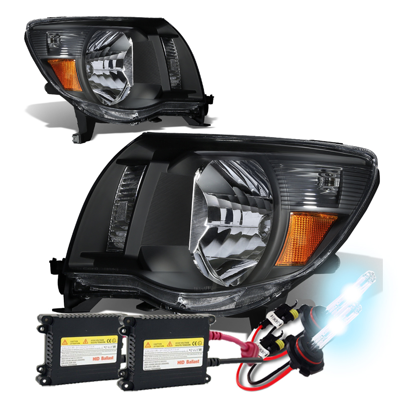 05 11 toyota tacoma euro style crystal headlights hid kit black publicscrutiny Image collections