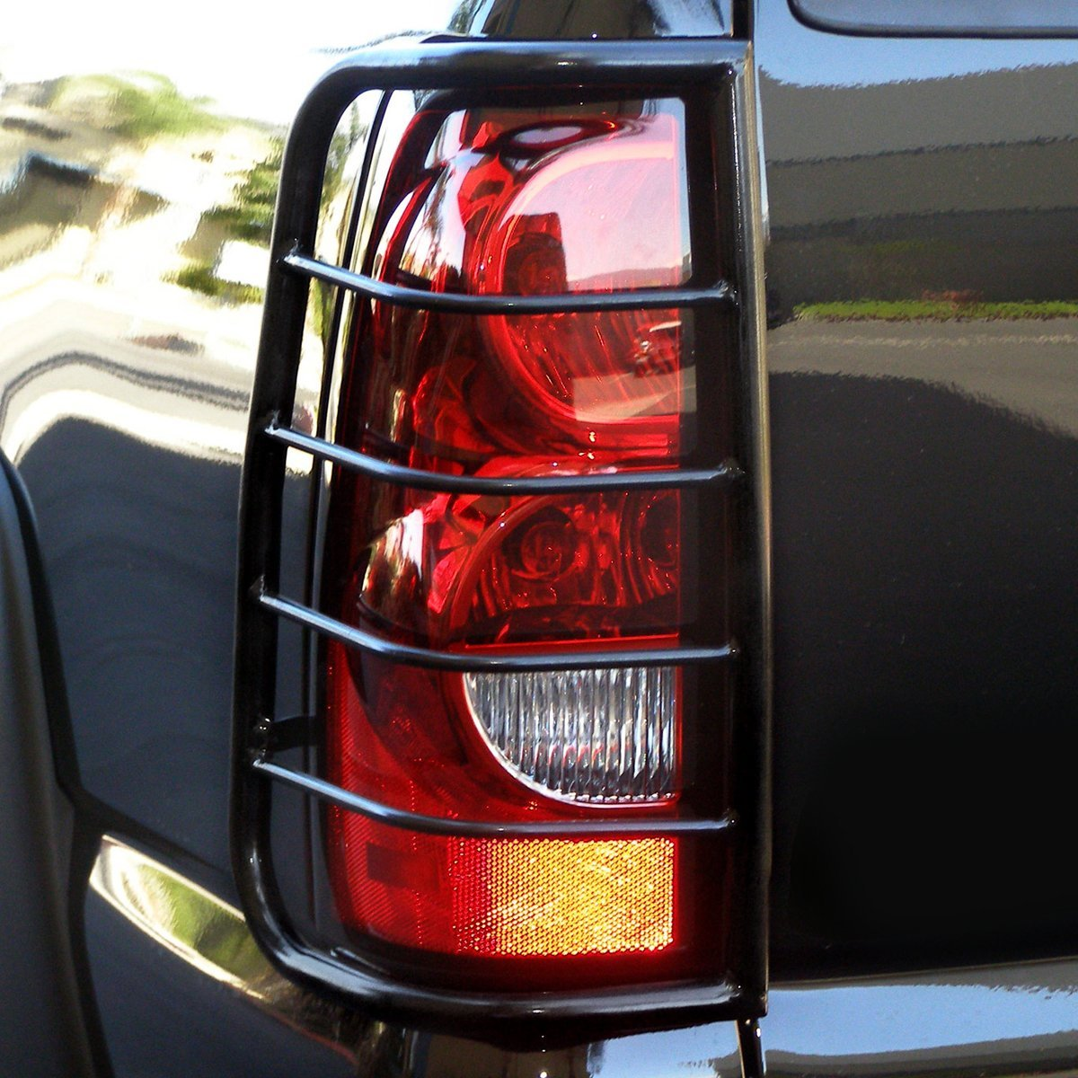 05 16 Nissan Frontier D40 Black Coated Steel Tail Light/Lamp Guard+Mounting  Kit