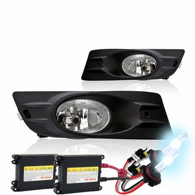 HID Xenon + 06-07 Honda Accord 2dr Coupe OEM Replacement Fog Lights Kit - Clear