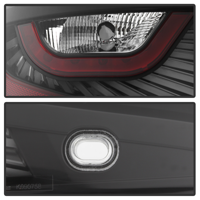 06 07 infiniti g35 2dr coupe led tail lights black. Black Bedroom Furniture Sets. Home Design Ideas