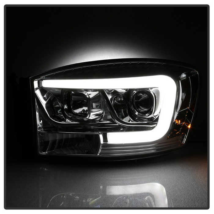 Dodge Extended Warranty >> 06-08 Dodge RAM 1500-3500 LED Tube Projector Headlights - Chrome