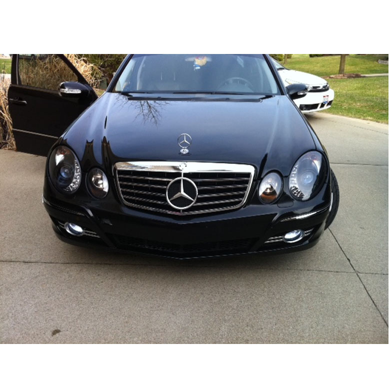 07 09 mercedes benz e class euro style drl led projector for Mercedes benz headlight