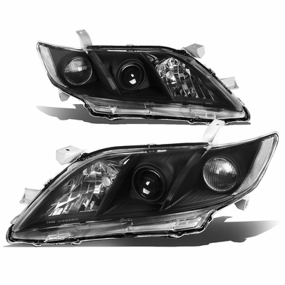 07-09 Toyota Camry [Do not fit Hybrid Model] Replacement Projector Headlights - Black