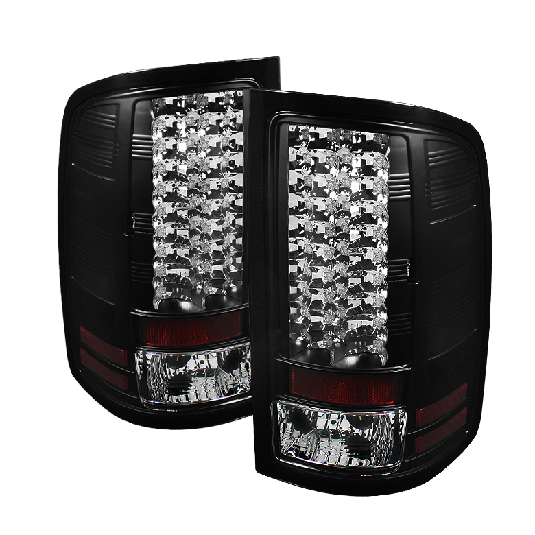 07 13 Gmc Sierra Pickup Truck Led Tail Lights Black 111 Gs07 Led Bk By Spyder