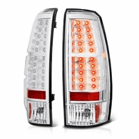 07-13 Chevy Avalanche Euro Style LED Tail Lights - Chrome ALT-YD-CAV07-LED-C By Spyder