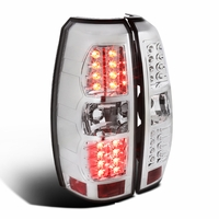 Spec-D 07-13 Chevy Avalanche Performance LED Tail Lights - Chrome
