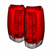 07-13 Chevy Avalanche Euro Style LED Tail Lights - Red / Clear ALT-YD-CAV07-LED-RC By Spyder
