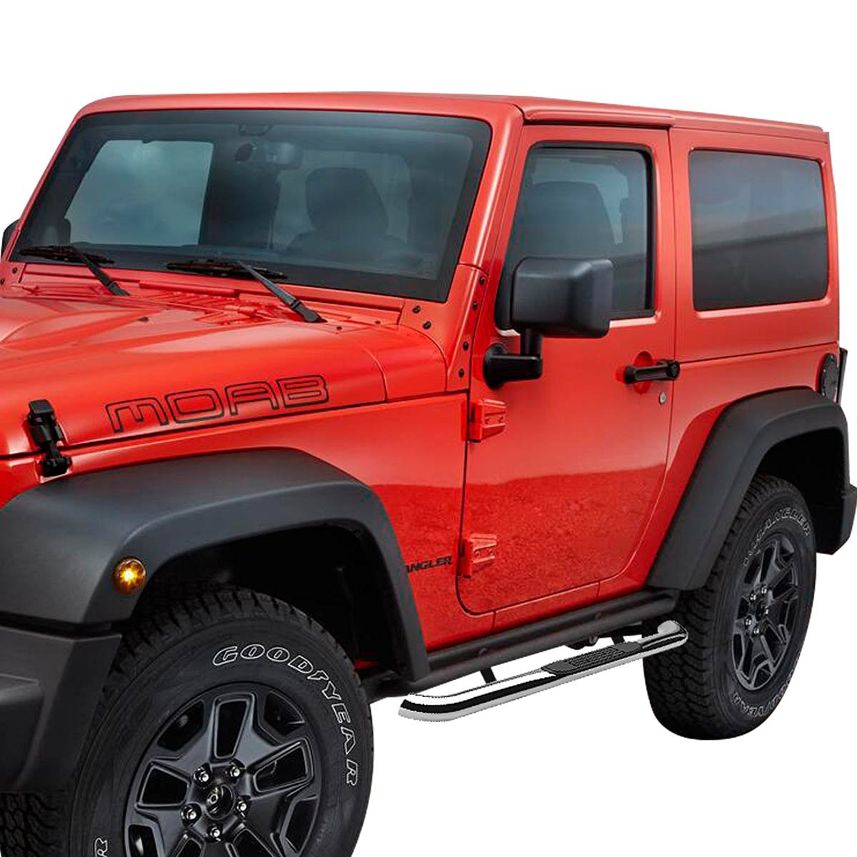 07 15 Jeep Wrangler 2 Door 3 Side Step Running Board Polished Jk Boards