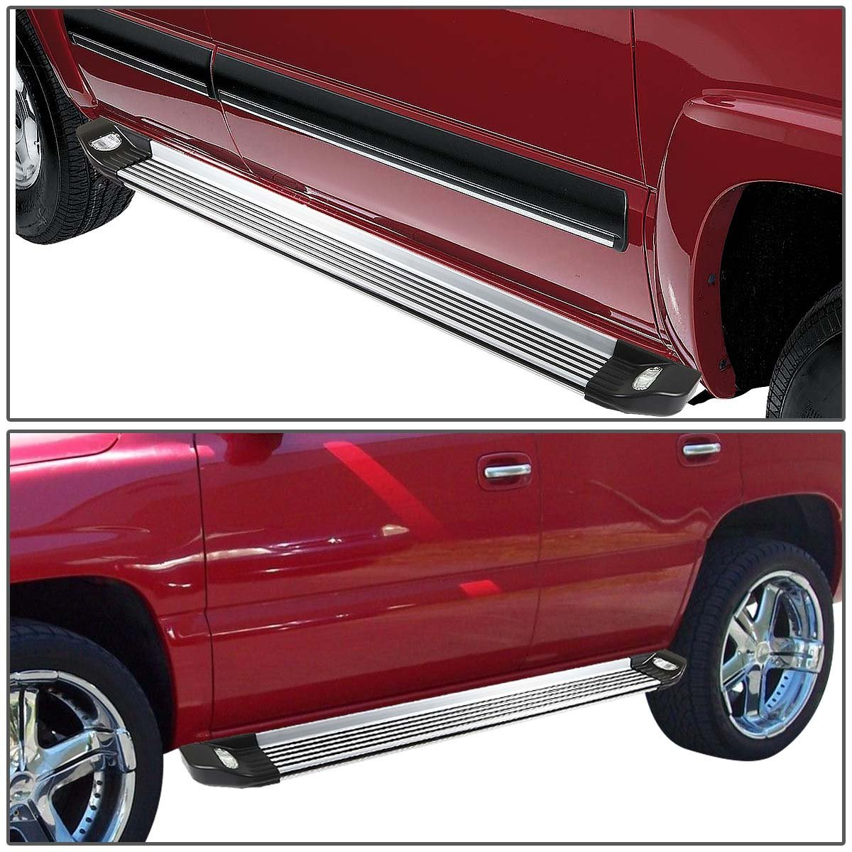 07 16 toyota tundra double cab short bed 5 25 brushed side nerf step bar lighted running boards