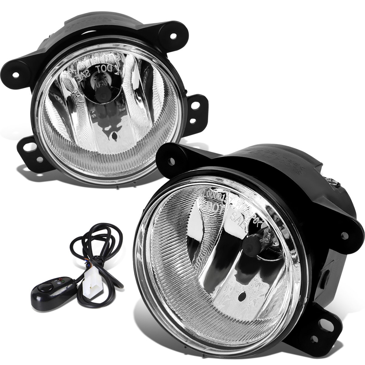 07-17 Jeep Wrangler JK Pair of Driving Bumper Fog Lights + Wiring ...