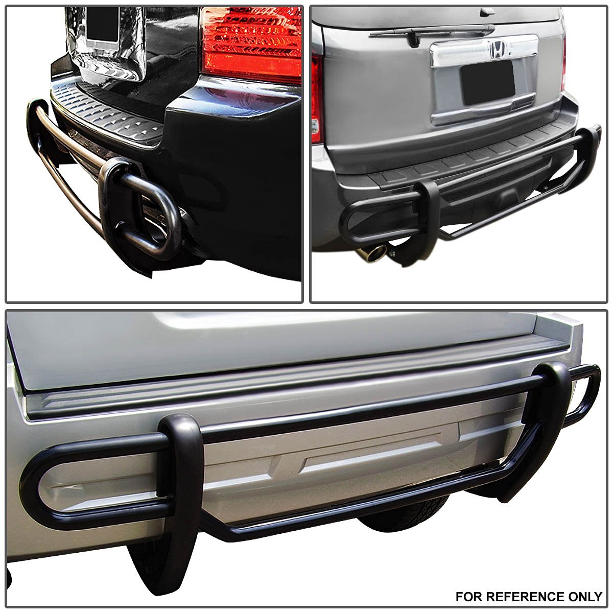 08 12 ford escape tribute stainless steel double bar rear bumper protector guard black