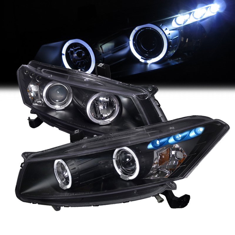 08 12 Honda Accord Coupe Dual Halo Amp Led Projector