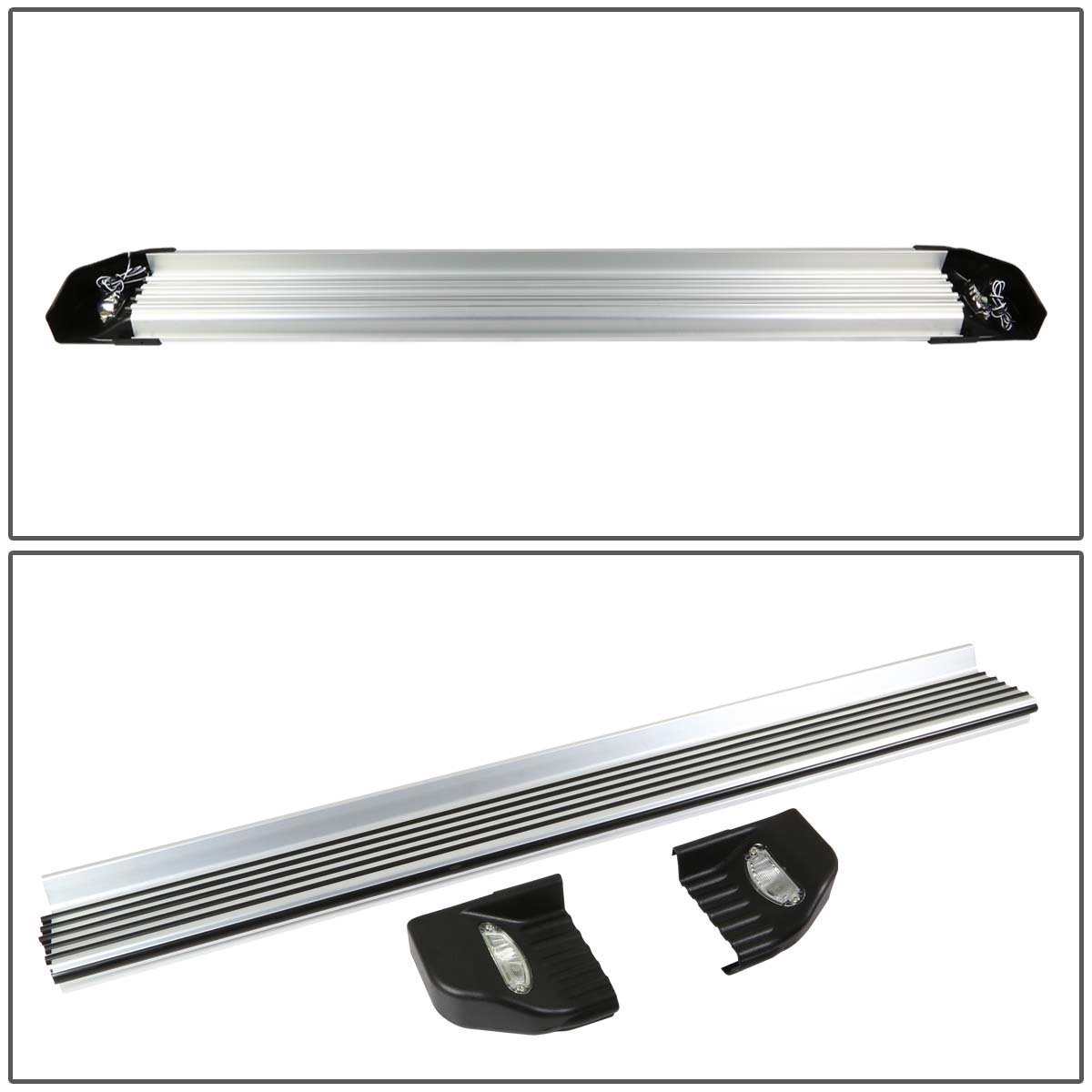 08 13 toyota highlander 525 brushed side nerf step bar lighted 08 13 toyota highlander 525 brushed side nerf step bar lighted running boards aloadofball Images