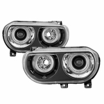 08-14 Dodge Challenger [HID Model] CCFL Halo Projector Headlights - Black