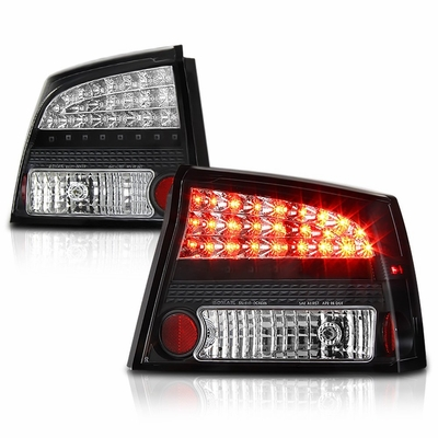 09 11 Dodge Charger Euro Style Led Tail Lights Black 111